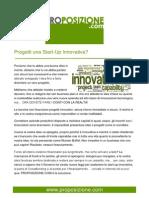 Progetti una Start Up innovativa