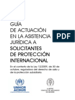 Guia de Actuación en la Asistencia Jurídica a Solicitantes de protección internacional