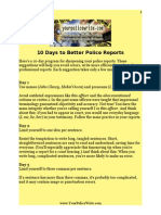 10 Days to Better Police Reports