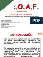P.R.O.A.F. Programa de articulación y fonación. Obdulia Maestre Pascual y Corina Ruíz Paredes