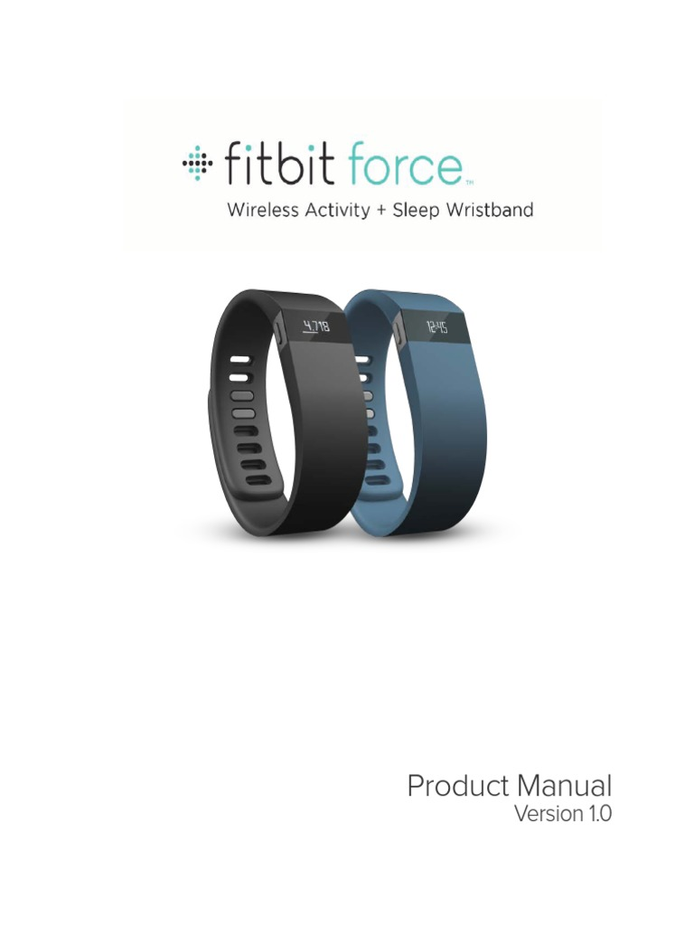 Fitbit Force Product Manual English Original Fitbit Ios