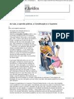 Luís Roberto Barroso - Retrospectiva 2013 - As ruas, a opinião pública, a Constituição e o Supremo