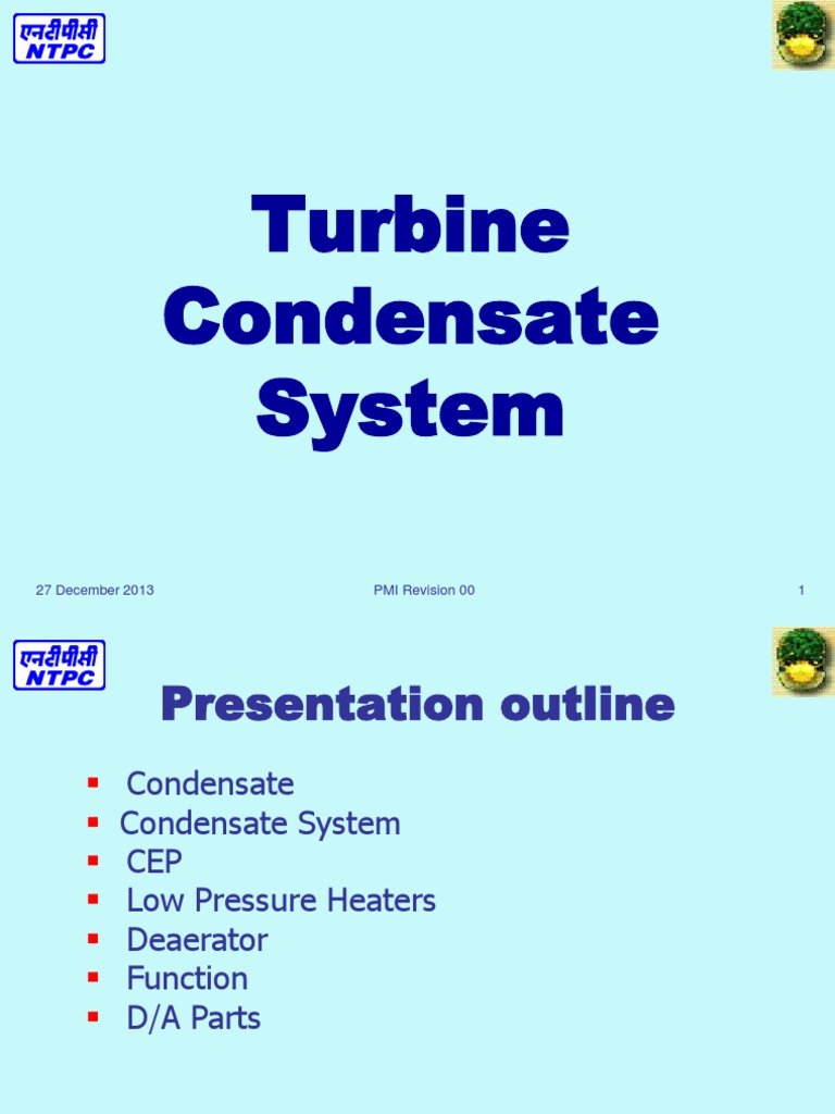 Turbine Condensate System in Thermal Power Plant | Heat Exchanger | Heat