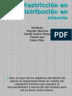 Restricción en distribución en planta