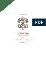Carta Enciclica Quas Primas Pio Xi