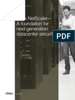 Citrix Netscaler a Foundation for Next Generation Datacenter Security