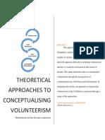 Defining Volunteerism