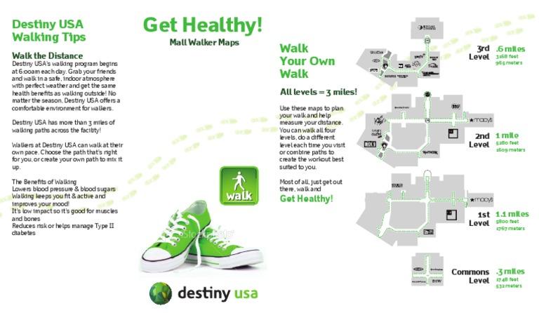 Destiny Usa Map Of Stores.Destiny Usa Mall Walkers Brochure