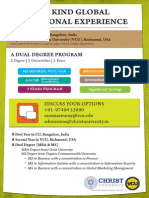 VCU Dual DegreVCU details for admissione Program