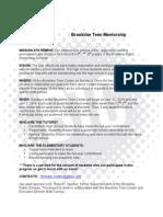 BTC Mentor Program Info