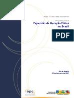 Expansao Energia Eolica No Brasil