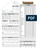 Pathfinder Interactive Character Sheet