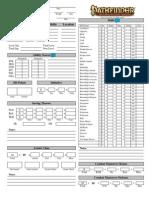 Pathfinder Interactive Character Sheet