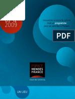 Programme de l'Espace Mendès France, sept 2009, Poitiers