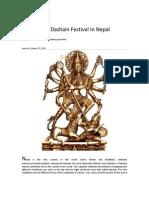 Celebrating Dashain Festival in Nepal