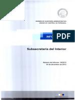 INFORME FINAL 19-13 SUBSECRETARÍA DEL INTERIOR AUDITORÍA EN MATERIAS DE PERSONAL Y REMUNERACIONES-DICIEMBRE 2013