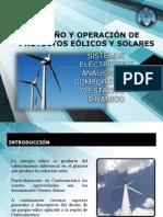 Energía Eólica, Análisis de Sistemas eléctricos, régimen estático y dinámico