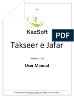 Takseer 2013 Manual