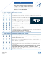 CDC Business Pandemic Influenza Planning Checklist