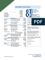 8th and Walton - Retail Math Cheat Sheet