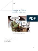 Google's strategy in China