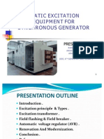 Static Excitation Equipment Ppt