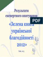 Олександр Олійник. «Зелена книга»