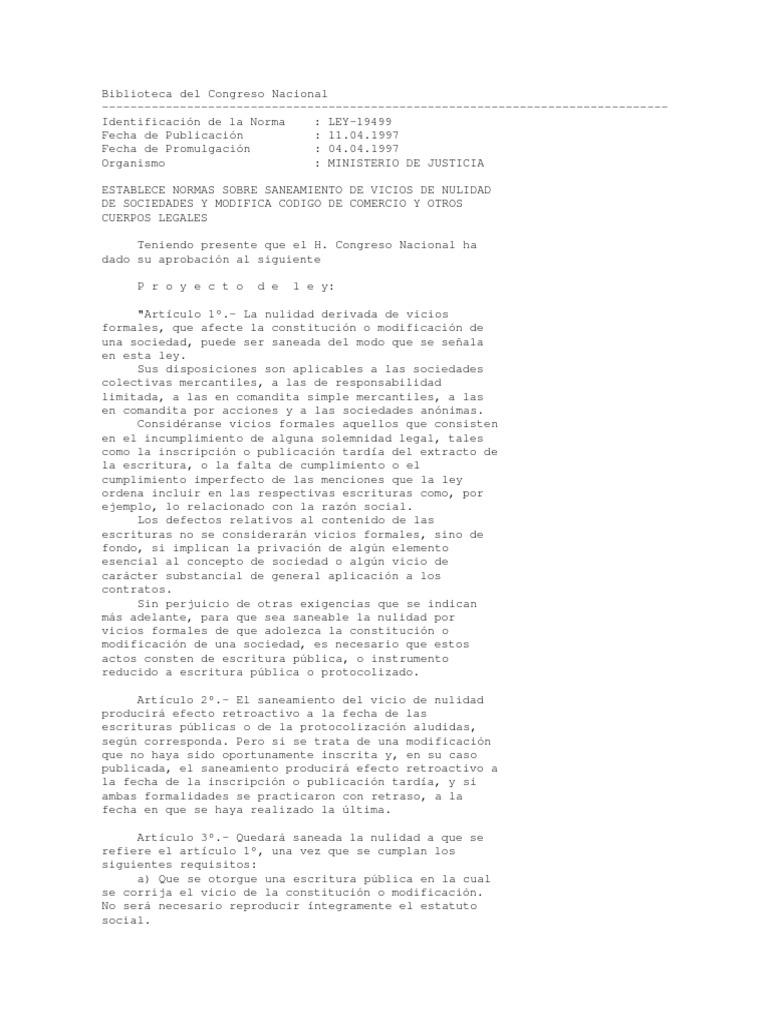 ley 19499
