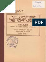 Tm 5-9004 XBBM TRAILER LOW BED 16 TON, 1942