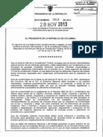 Decreto 2613 Del 20 de Noviembre de 2013