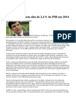 131226_Analistas Preveem Alta de 2,1% Do PIB Em 2014