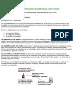 DEFINICIÓN DEL  I+D  INVESTIGACION Y DESARRLLO