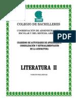 Cuaderno de Actividades Literatura Mex.