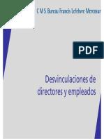 Desvinculacion Directores Empleados