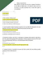 Biology - Genetics Review 2