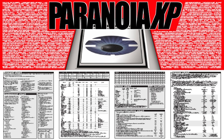 Paranoia XP - Gamemaster Screen (MGP6631) | Gun | Treason