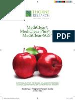 Thorne Mediclear Detox Booklet