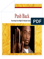 Push Back Against Aggressive Unions
