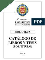 CATÁLOGO DE LIBROS Y TESIS