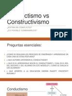Conductismo vs Constructivismo