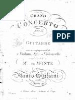 Op 36 (Guit) Grand Concerto Pour La Guitare, 2 Violons, Alto Et Violoncelle