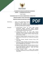 Permenkes 1144-2010 Organisasi Tata Kerja Kemkes