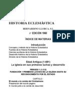 Manual de Historia Eclesiástica (Bernardino Llorca, 5ª ed., 1960)