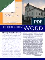 Bethlehem Word Sept 09