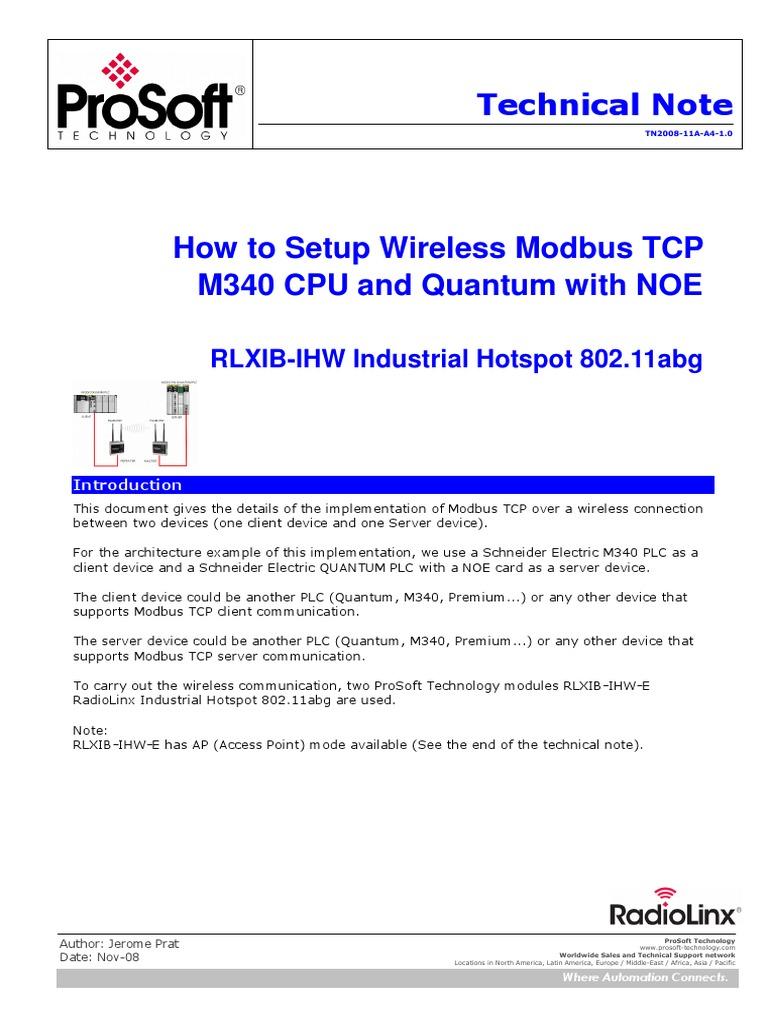 Infoplc Net Technical Note Rlxib Ihw Wireless Modbus Tcp