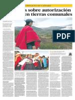 Cañaris - Hay dudas sobre autorización a minera en tierras comunales - Irma Montes Patiño