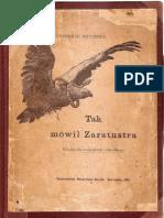 Nietzsche- Tak mówił Zaratustra II