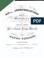 Op 112 Six Grandes Variations Pour La Guitarre