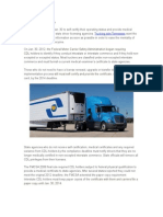 Medical Certification Rule and Trucking Jobs Tennessee