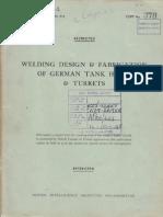 Welding and Fabrication of German Tank Hulls
